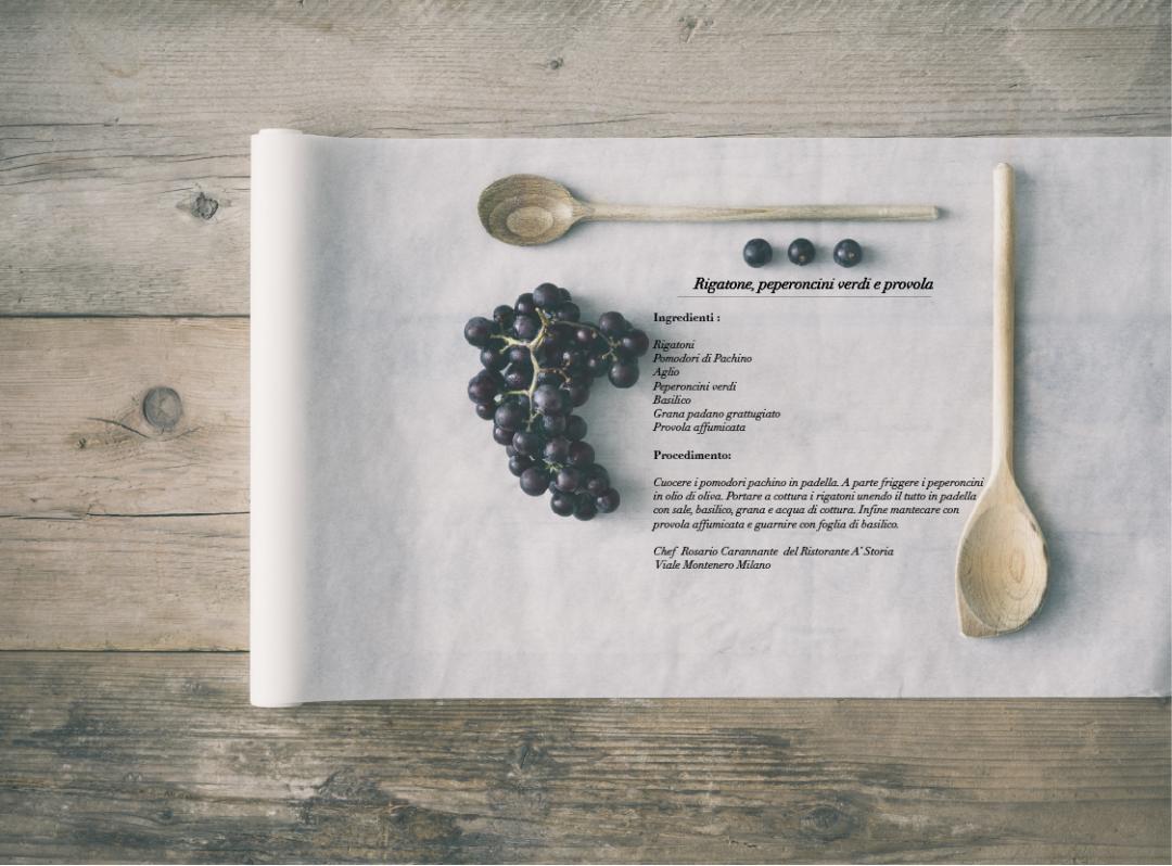 Rigatone, peperoncini verdi e provola